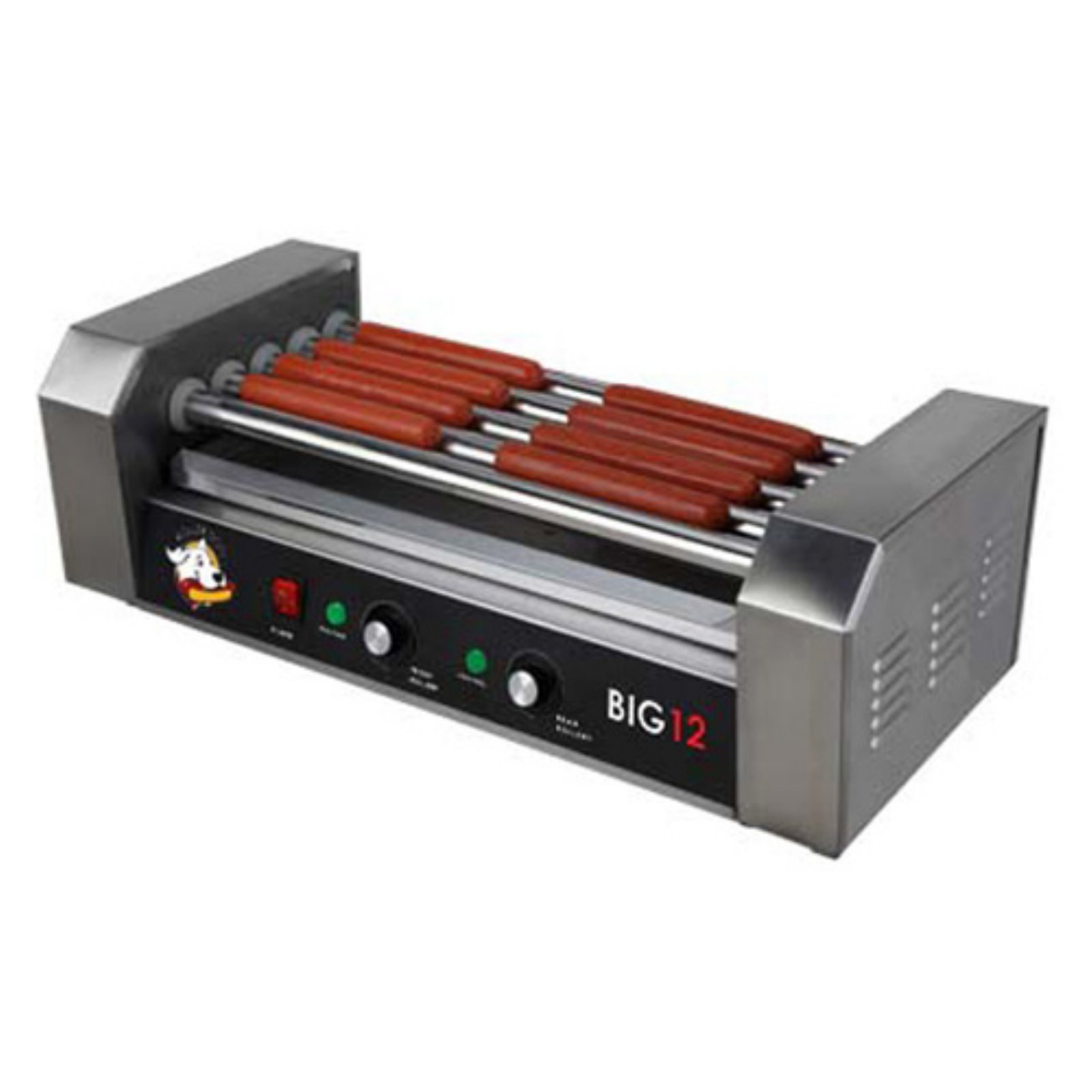 RollerDog Big 12 Stainless Steel Hotdog Roller with Drip Tray