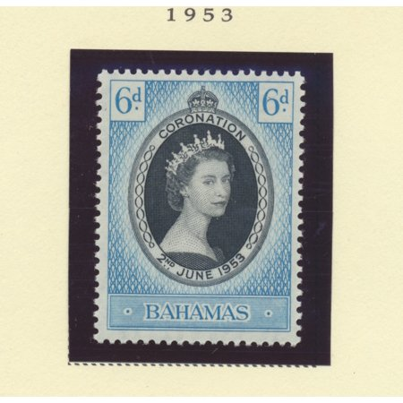 British Postage Stamps - Bahamas Scott #157 - Queen Elizabeth II Coronation, British Commonwealth Common Design Issue From 1953 - Collectible Postage Stamps