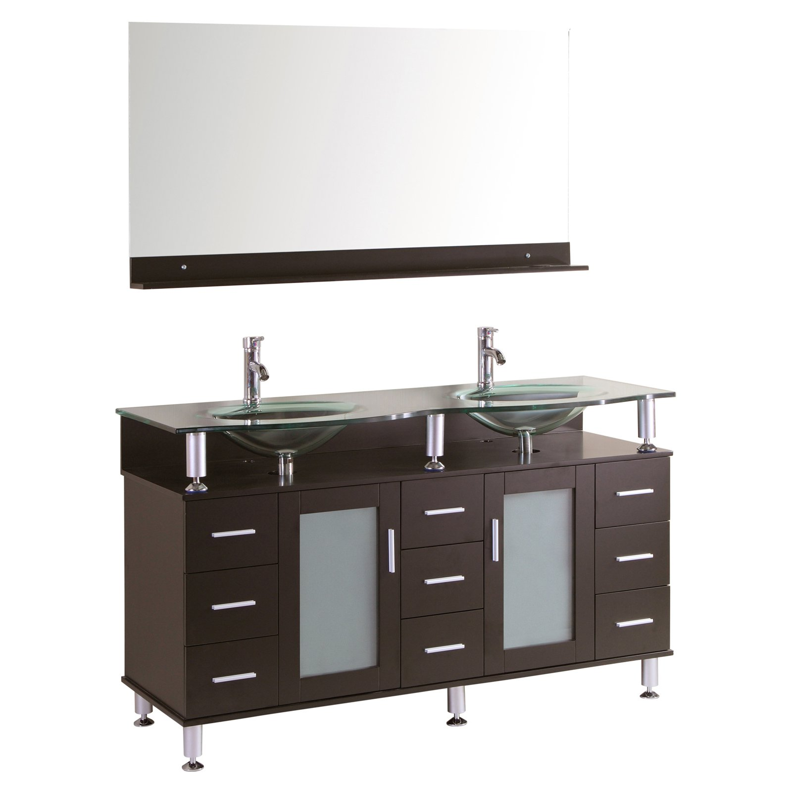 Kokols 9097 60 in. Double Sink Bathroom Vanity