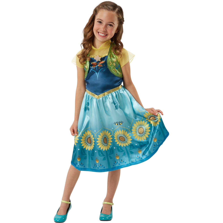 Disney Frozen Frozen Fever Anna Dress - Walmart.com