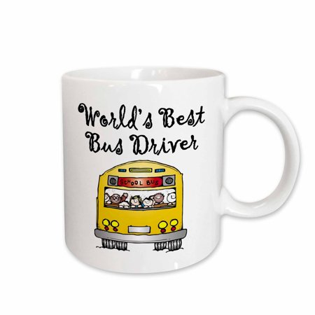 3dRose Worlds Best Bus Driver., Ceramic Mug,