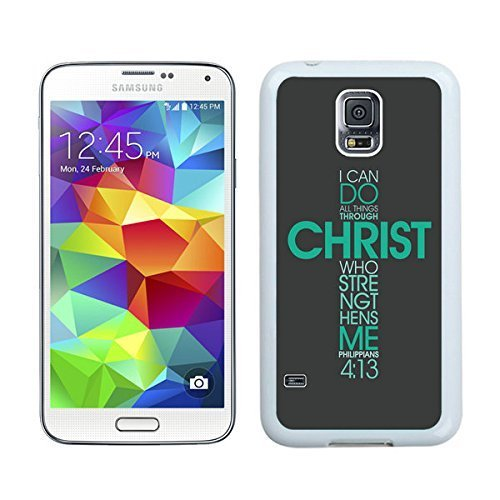 Ganma Galaxy S5 Case,S5 Cases,Bible Philippians Christ Christian Cross Cases Cover Green at abcabcbig store Case For Samsung Galaxy S5 Case White Cover