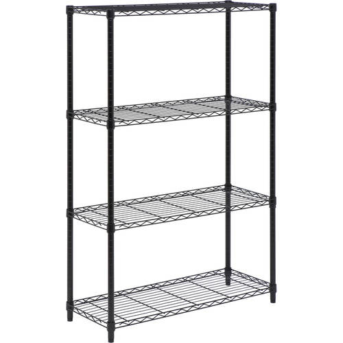 Honey-Can-Do 4-Tier Storage Rack, Wire Shelving Unit, Black