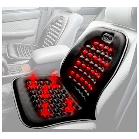 Black Heated Seat Cushion Heater   Warmer Massager With Therapeutic Magnets Cushion