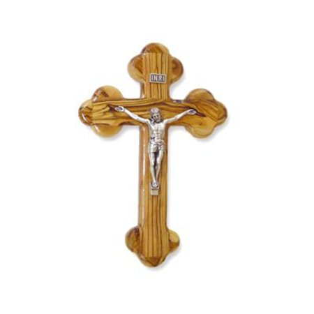 "Olive Wood ""The Cross Of The Fourteen Stations"" W/Crucifix. (10""H)"