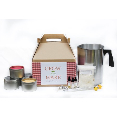 Deluxe DIY Soy Wax Candle Making Kit with Tin Containers ...