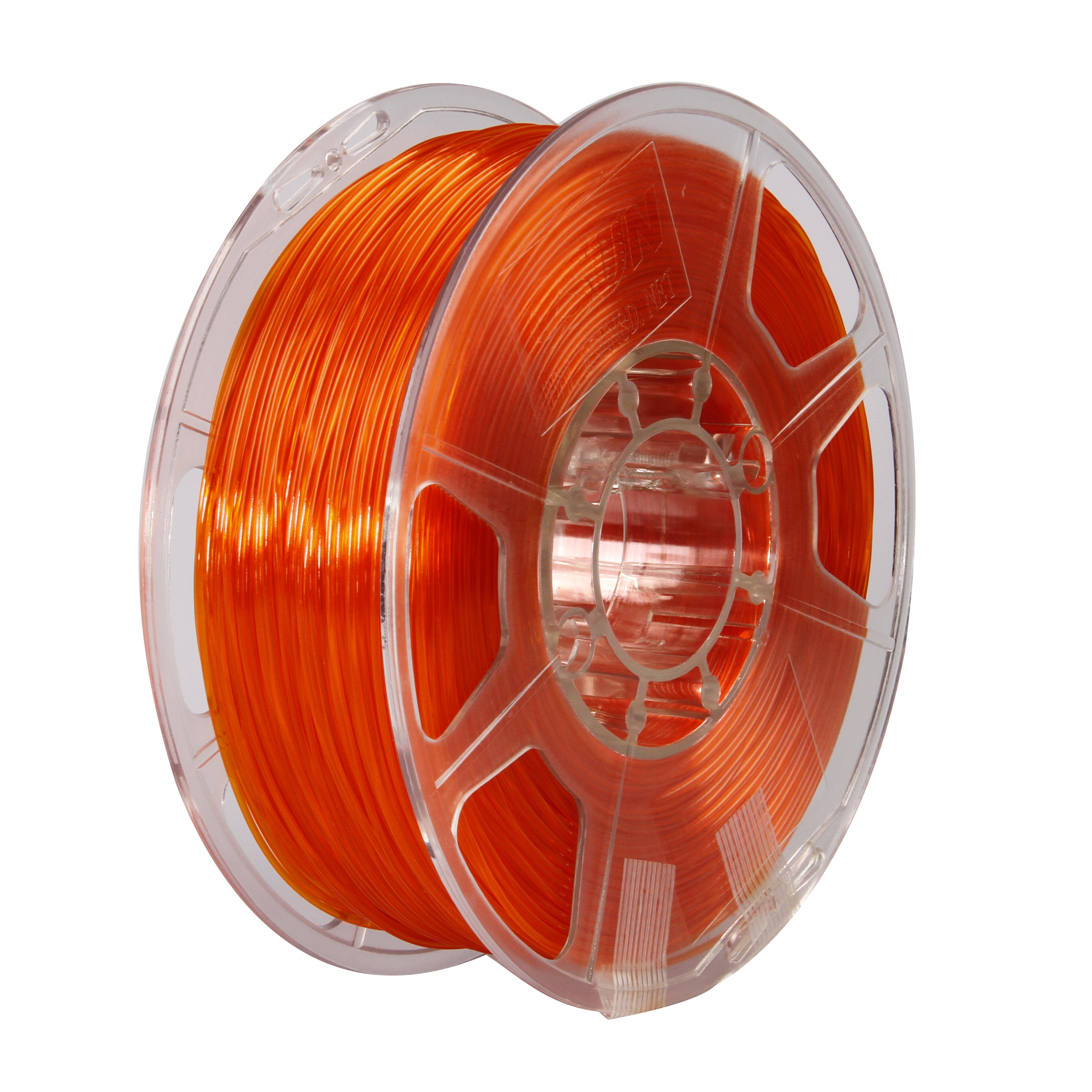eSUN 3D 1.75mm PETG Orange Filament 1kg (2.2lb), PETG 3D Printer Filament, Semi-Transparent 1.75mm Orange