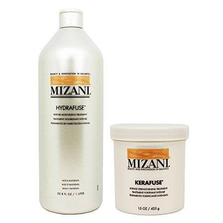 "Mizani Hydrafuse Intensive Moisturizing Treatment 33.8oz + Kerafuse Intensive Protein Treatment 15oz ""Set"""