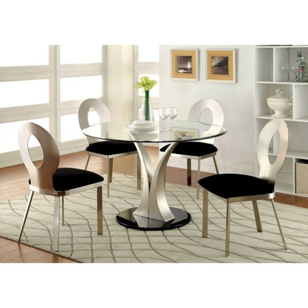 Furniture of America Sparling Contemporary Pedestal Dining Table Contemporary Pedestal Dining Table