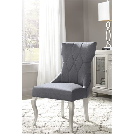 Ashley coralayne upholstered dining chair in dark gray for Meuble ashley circulaire