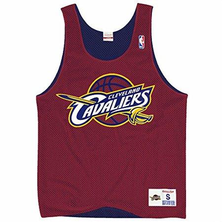 a07a2fa3500 Cleveland Cavaliers NBA Mitchell & Ness Men's Drop Step Retro Mesh ...