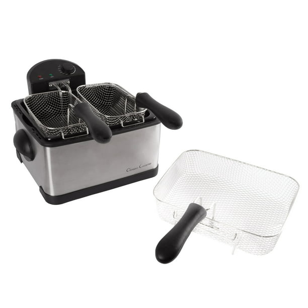 Electric Deep Fryer 3 Fry Baskets 1 Large And 2 Small For Dual