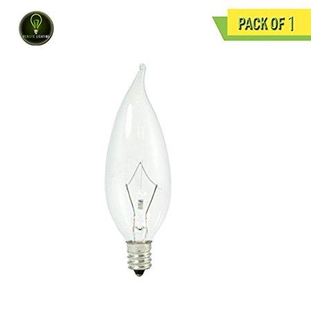 Krypton Candelabra - Perlite Lighting KR25CFC/32/120V 25-Watt CA10 LED Krypton Flame Clear Candelabra E12 Base 120-Volt Light Bulb One Pack