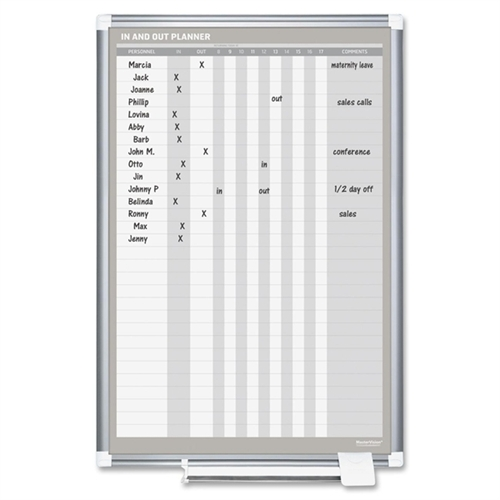 Bi-silque Magnetic In/Out Vertical Planner Board GA02109830