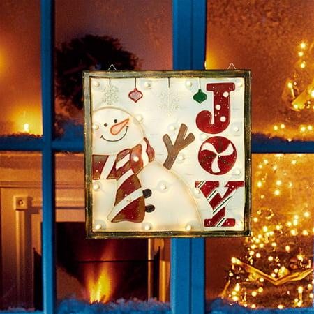 Christmas Joy Snowman (Holiday Time Christmas Lights 18