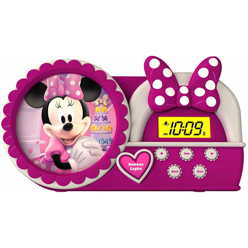 Disney Minnie Mouse Night Glow Alarm Clock