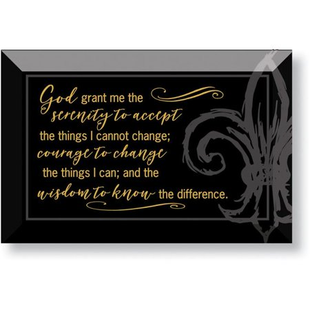 6 x 4 in. Serenity Prayer Glass Plaque with - Stain Glass Plaque