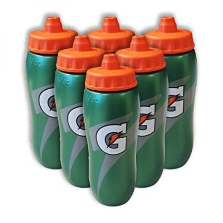 c23bdafb6b Set of 6 Gatorade Leakproof Green Orange Sport Squeeze Water Bottle 20 Oz -  Walmart.com