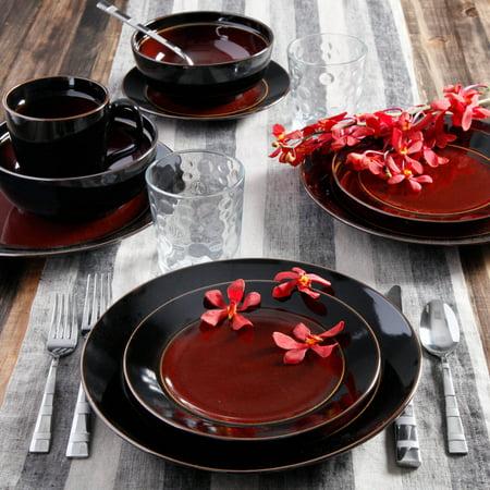 Gibson Studio Villa Mosa 16-Piece Dinnerware Set, Round