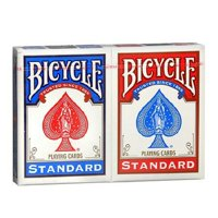 2 Decks Bicycle Rider Back 808 Standard Poker Playing Cards Red and Blue