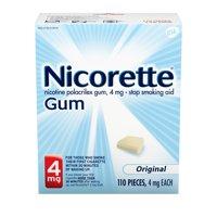 Nicorette Nicotine Gum to Stop Smoking, 4mg, Original Unflavored - 110 Count