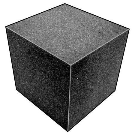 5GCJ1 Foam Cube, Polyether, Charcoal, 2 3/4 In Sq (Foam Cubes)