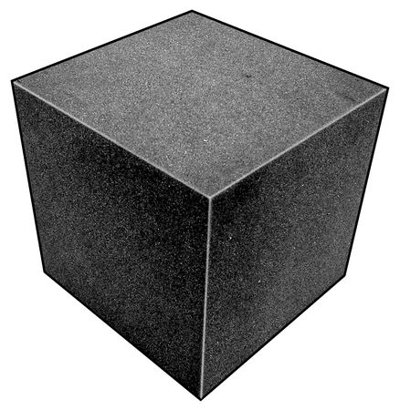 5GCJ2 Foam Cube, Polyether, Charcoal, 3 1/2 In Sq