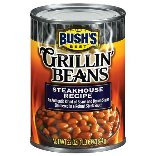 Bushs Best Steakhouse Recipe Grillin Beans, 22 oz