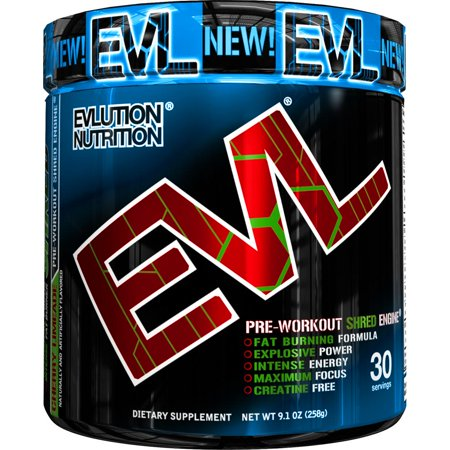 Evlution Nutrition ENGN Shred Pre Workout Powder, Cherry Limeade, 30 Servings ()
