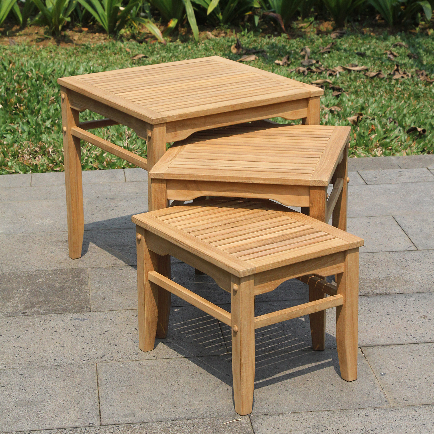 Willem Teak Nesting Tables 3-Pack by PT International Furniture Industries