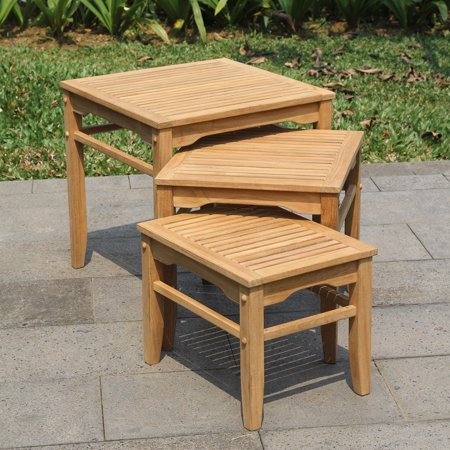 3 Pack Table - Willem Teak Nesting Tables 3-Pack