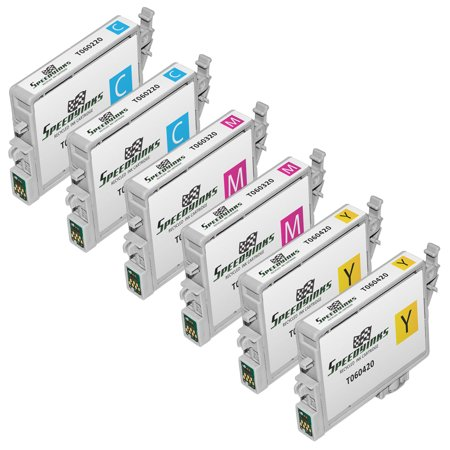 Speedy Inks Remanufactured Ink Cartridge Replacement for Epson 60 (2 Cyan, 2 Magenta, 2 Yellow, 6-Pack)