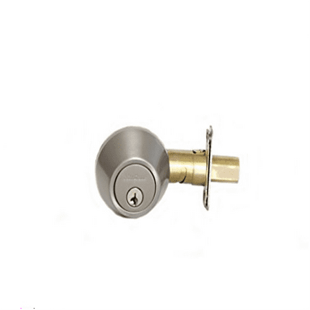 MaxGrade 60015 Single Cylinder Deadbolt Satin Nickel Finish with Adjustable Backset and Square Strike