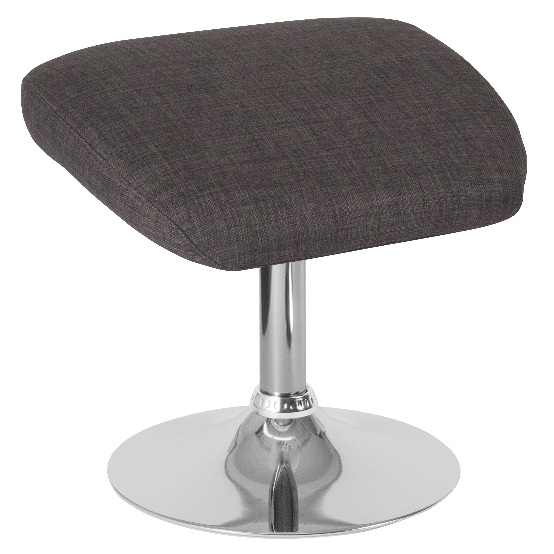 Flash Furniture Egg Series Dark Gray Fabric Ottoman