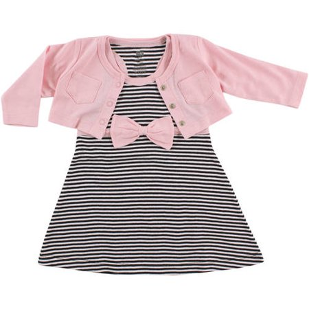 0c7b9b70b Hudson Baby - Girl Cardigan and Racerback Dress - Walmart.com