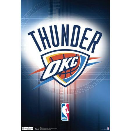 (Oklahoma City Thunder Logo Nba Sports Poster - 13x19)