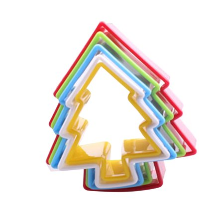 Holiday Time Colorful Multi-shape Plastic Mold Cookie Biscuit Cutter Mould Pastry Maker Tools Randomly Sent - Holiday Cookie Exchange