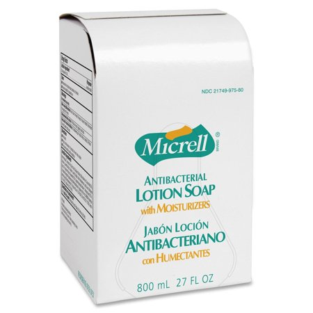 800 Ml Dispenser Refill (Micrell Antibacterial Lotion Dispenser Refill - 27.1 Fl Oz [800 Ml] - Anti-bacterial, Antimicrobial - Golden - 1 / Carton (975712CT) )