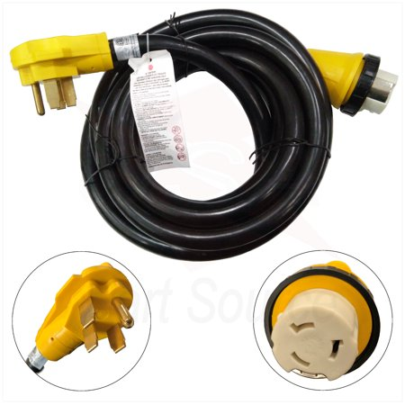 Power Cord Lock - New 15 Foot RV Power Cord Adapter 15 ft 50 amp Detachable Cable with Twist Lock
