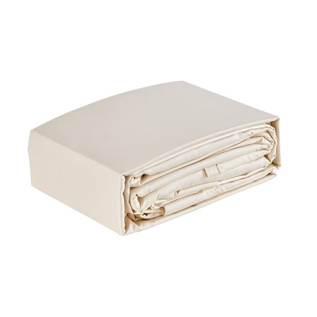 Organic Cotton Sateen Sheet Set   Ivory   King