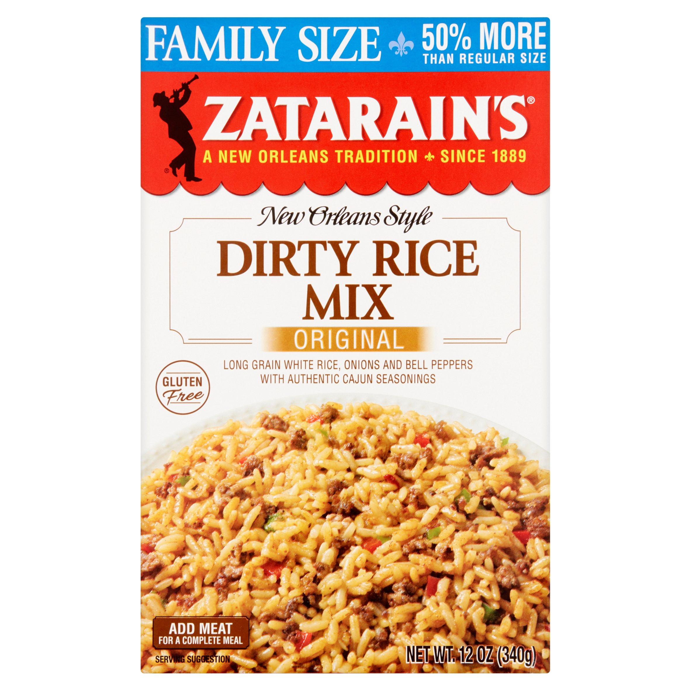 Zatarain's New Orleans Style Original Dirty Rice Mix Family Size, 12 oz by Zatarain's