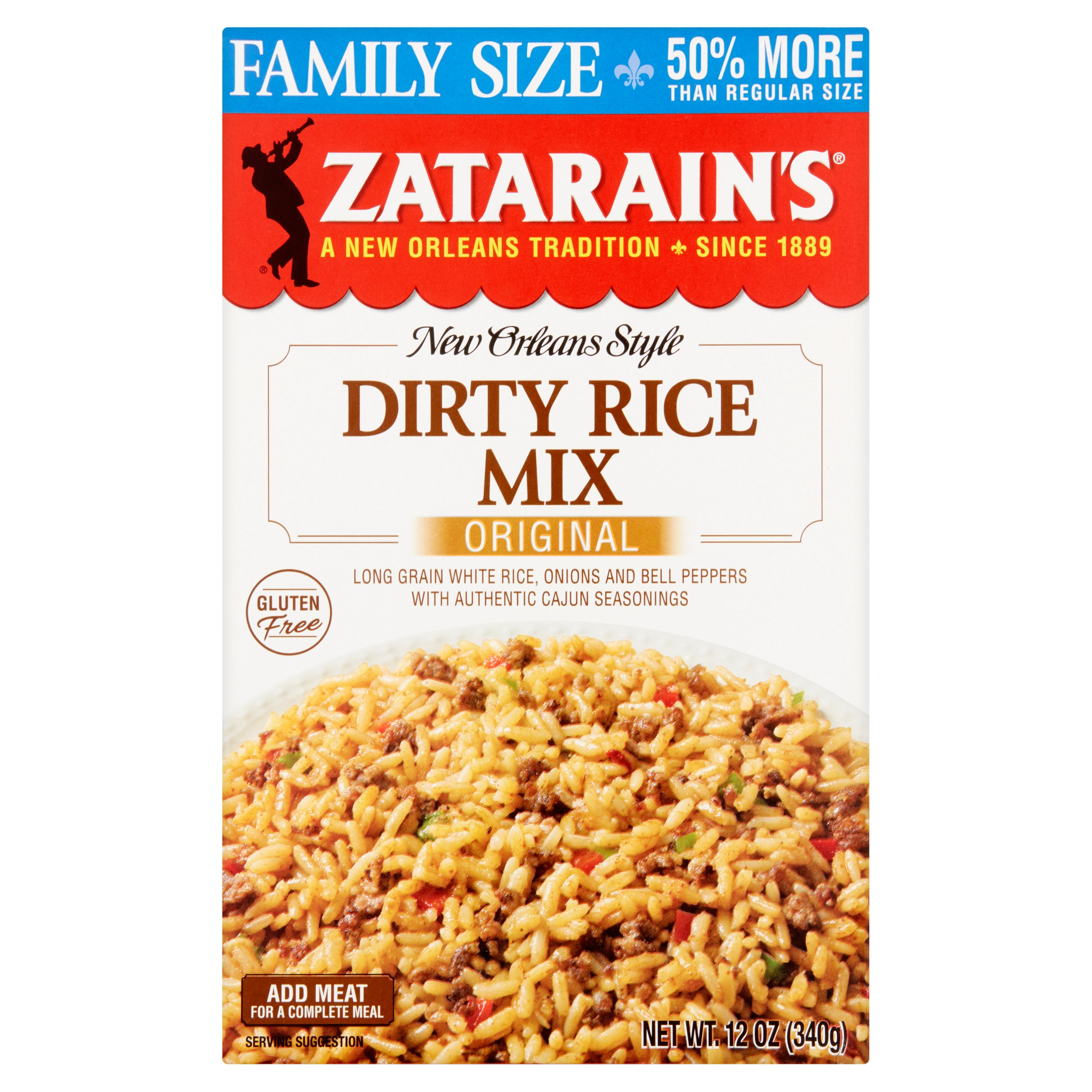 Zatarain's New Orleans Style Original Dirty Rice Mix Family Size, 12 oz