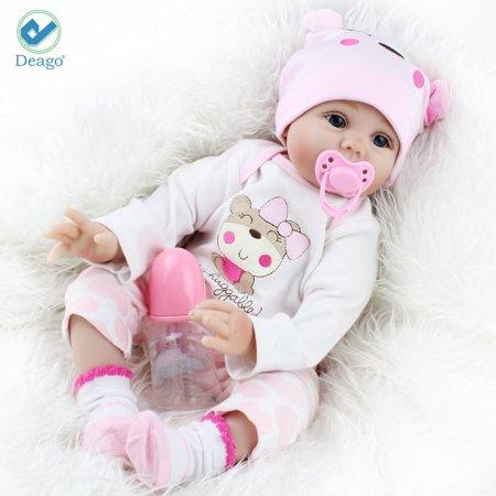 Deago Reborn Baby Doll Newborn Doll 22inch 55cm Magnetic Lifelike