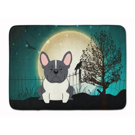 Halloween French Bulldog Black White Machine Washable Memory Foam - Anti Halloween France