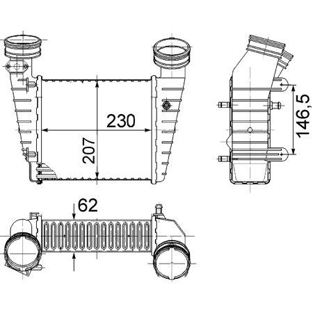 Hella Behr 376776611 Intercooler for 01-05 Volkswagen