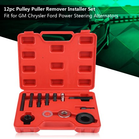 Hilitand 12pc Pulley Puller Remover Installer Set for GM Chrysler Ford Power Steering Alternators, Pulley Remover Kit, Pulley Installer covid 19 (Power Steering Pulley Puller coronavirus)
