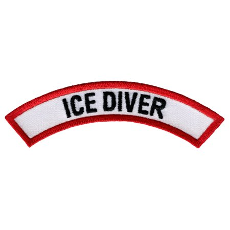 Ice Diver Scuba Certification Chevron Embroidered Iron-On Patch