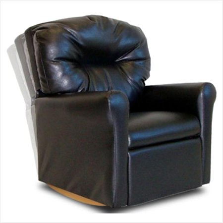Contemporary Rocker Pecan Brown Leather Like