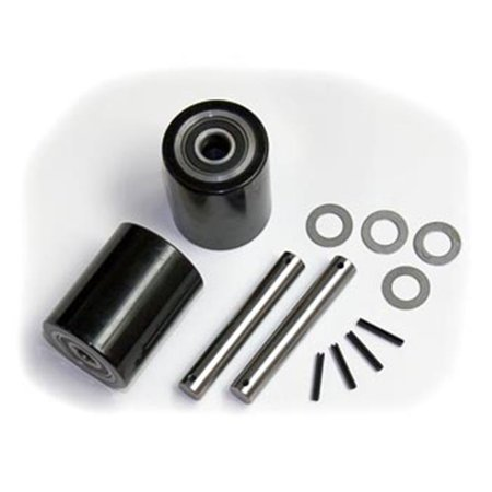Hand Pallet Lift - Mighty Lift GWK-BF-LW ML55 Load Wheel Kit for Manual Pallet Jack - Black