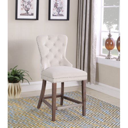 Best Master Furniture Julia Cream Velvet 24 in. Counter Chair - Set of (Best Over The Counter Topical Steroid Cream)